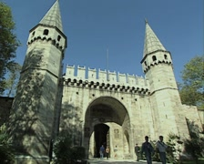 View of Gate of Salutation at Topkapi Palace Stock Footage