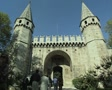 People walking through Gate of Salutation at Topkapi Palace SD Footage