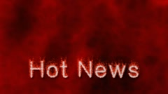 Hot News - Corporate and business ident - room for logo Stock Footage