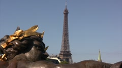 Eiffel Tower in Paris Stock Footage