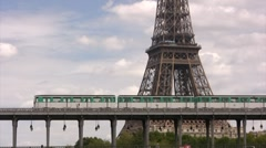 Eiffel Tower in Paris - stock footage