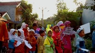Stock Video Footage of Children Carnival for Ramadan