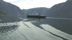 A Ferry on a Norwegian fjord Stock Footage