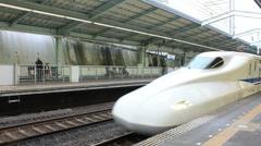 Bullet Train in Japan Stock Footage
