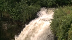 Minnehaha Falls top side view 120 shutter speed Stock Footage