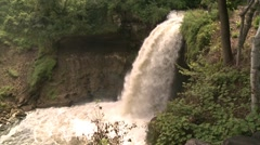 Minnehaha Falls Side View Stock Footage