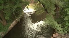 Minnehaha Creek grotto Stock Footage