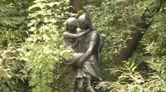 Hiawatha and Minnehaha Statue MCU Stock Footage