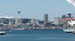 Port of Seattle loading docks 10078 Stock Footage