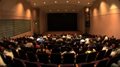 Movie Theater. People watching movie - stock footage
