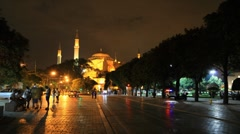 Stock Video Footage of Ayasofya museum timelapse