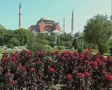 View of Hagia Sophia in daytime from garden SD Footage