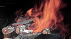Hot red flames Stock Footage