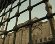 View of Hagia Sophia through grille gate Footage