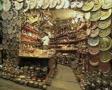 Shot of decorative metals shop SD Footage