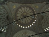 Shot of ceiling and pan down in Hagia Sophia Stock Footage