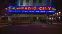 Radio City (slow shutter, sppeded up) Stock Footage