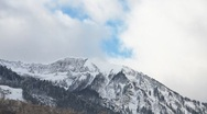 Snow Mountains Clouds TimeLapse Stock Footage