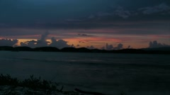 Puerto Rico-Timelapse-Sunset from deserted coral island. Stock Footage