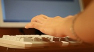 Stock Video Footage of Typing on the keyboard