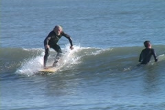 Longboard Surf1 Stock Footage