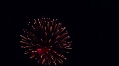 Firework. - stock footage