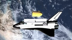 Space shuttle - stock footage
