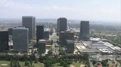 LA aerials downtown1 Stock Footage