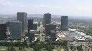 LA aerials downtown1 Stock Footage