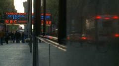 NBC Studios reflections (Rainbow Room) Stock Footage