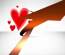 Happy Valentines Day with moving hearts. Stock Footage