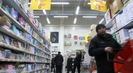 Stock Video Footage of In supermarket. Timelapse 6x 1080p