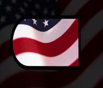 Animated America title sequence Stock Footage