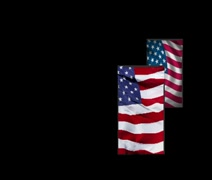 Flying American Flags Stock Footage