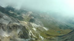 View from Piz Nair, Engadin, Switzerland, Schweiz Stock Footage