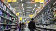 Stock Video Footage of In supermarket. Timelapse 8x 1080p