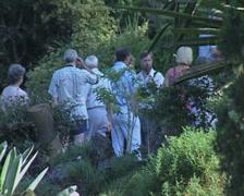 People standing in garden Stock Footage