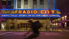 Music Hall, Radio City, NYC (Roberto Carlos) Stock Footage