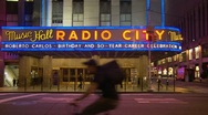 Stock Video Footage of Music Hall, Radio City, NYC (Roberto Carlos)