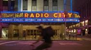 Music Hall, Radio City, NYC (Roberto Carlos) Stock Footage