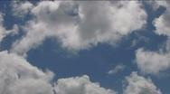 Timelapse Cloudscape HSD 48 Blue Sky Stock Footage