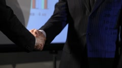 Business handshake. Shake hands Stock Footage