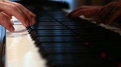 Man plays the piano chord Stock Footage