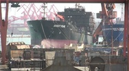 Stock Video Footage of Ship construction in China