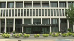 Australian Embassy in the U.S. Stock Footage