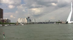 Erasmus bridge in Rotterdam the Netherlands Stock Footage
