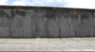 Berlin Wall Memorial at Bernauer Strasse Stock Footage