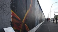 Stock Video Footage of East Side Gallery - remnants of the Berlin Wall in Friedrichshain in Berlin