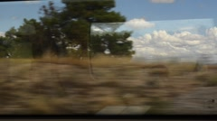View from train window. HD. - stock footage