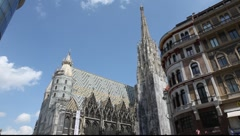 Stephan's cathedral in Vienna, Austria Stock Footage